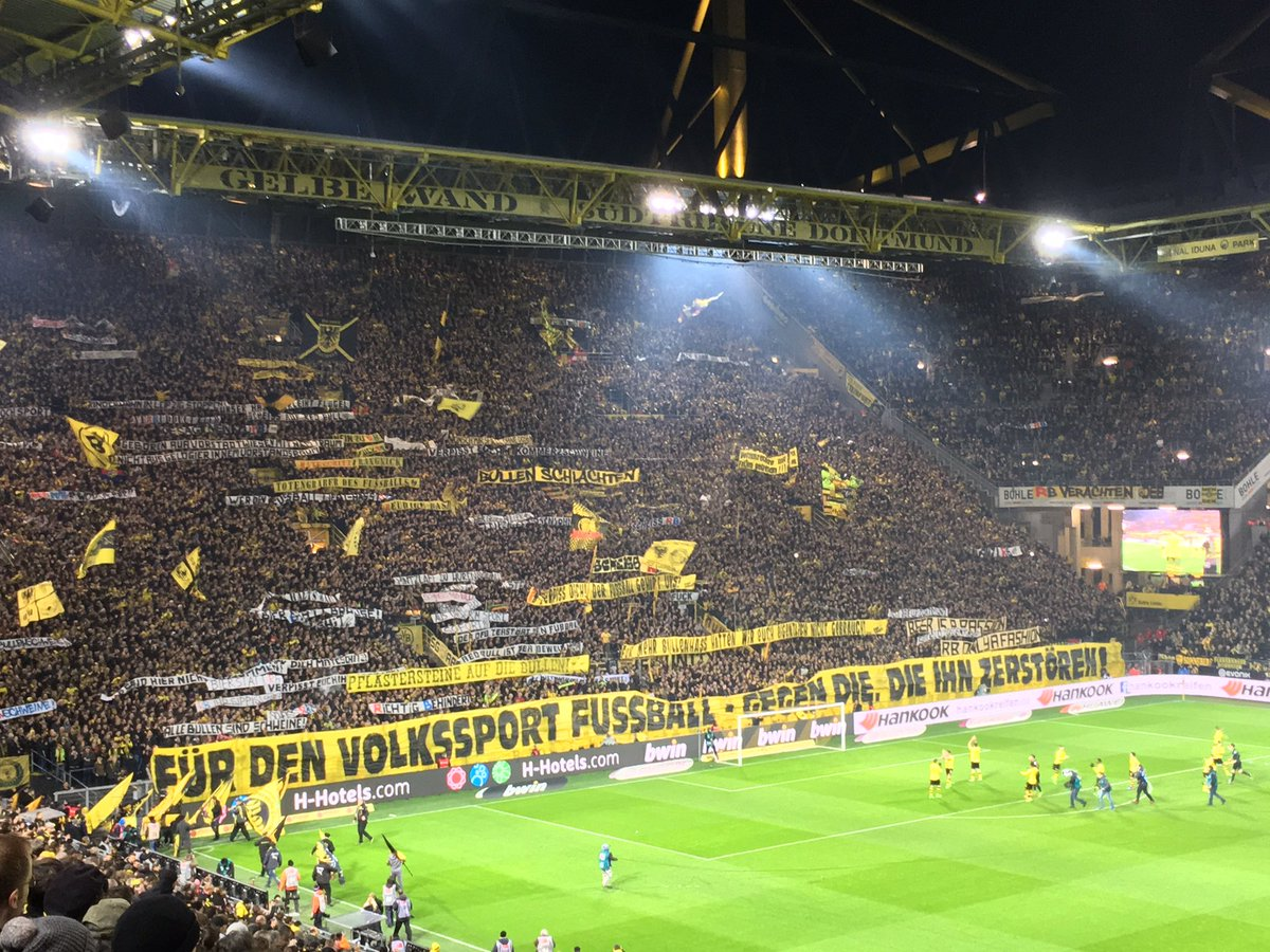 Archie Rhind Tutt On Twitter This Is Quite Something Dortmund S Yellow Wall To Be Empty For One Game After What Happened Against Leipzig