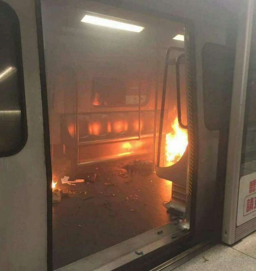 Eight injured in MTR train fire, TST station evacuated, social media pics show fire inside train