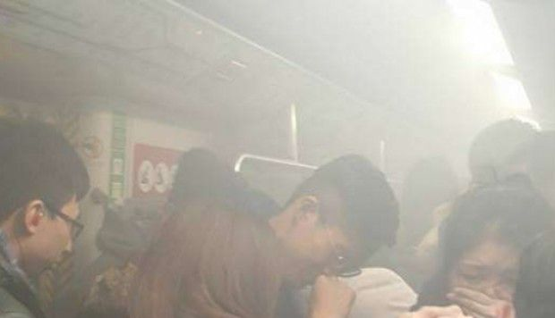Nine injured as fire breaks out on Hong Kong MTR train