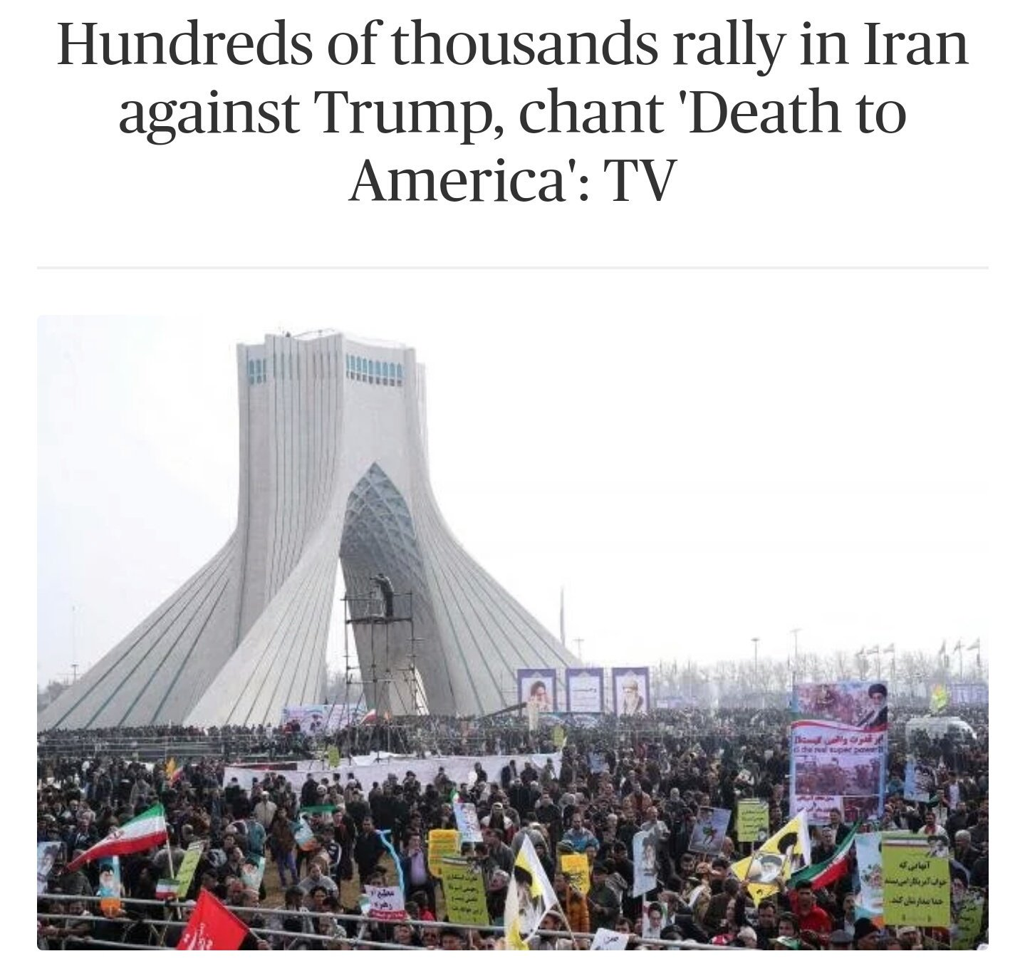 HAPPENING NOW: Hundreds of thousands rally in Iran, chant ...