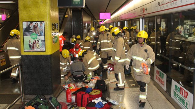 At least 11 injured in Hong Kong train fire at Tsim Sha Tsui
