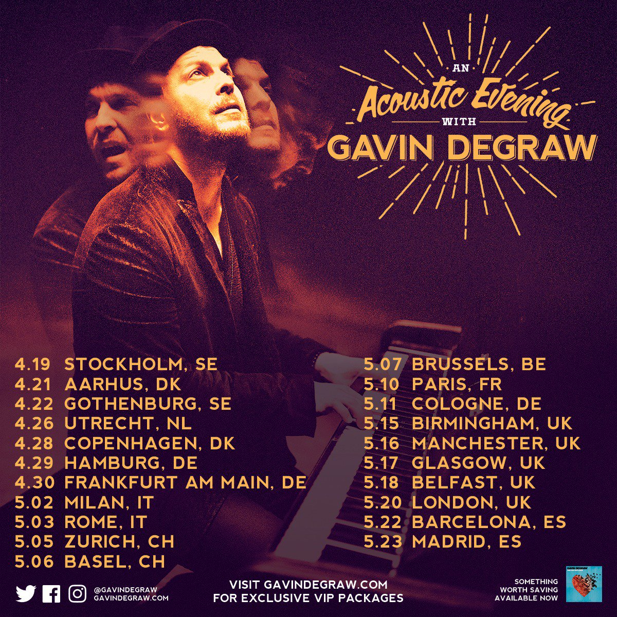 Gavindegraw On Twitter Tickets And Meet Greet Upgrades Are On