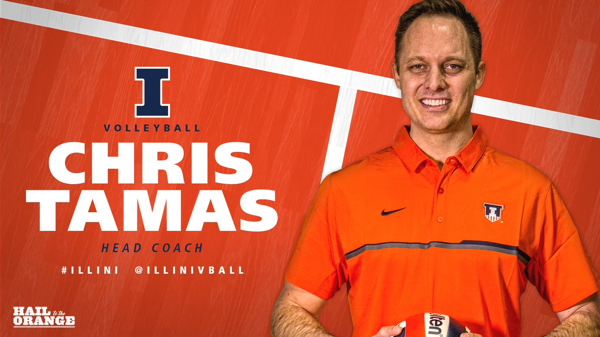 Excited to introduce the new head coach of #Illini volleyball, Chris Tamas!   Welcome to Illinois!