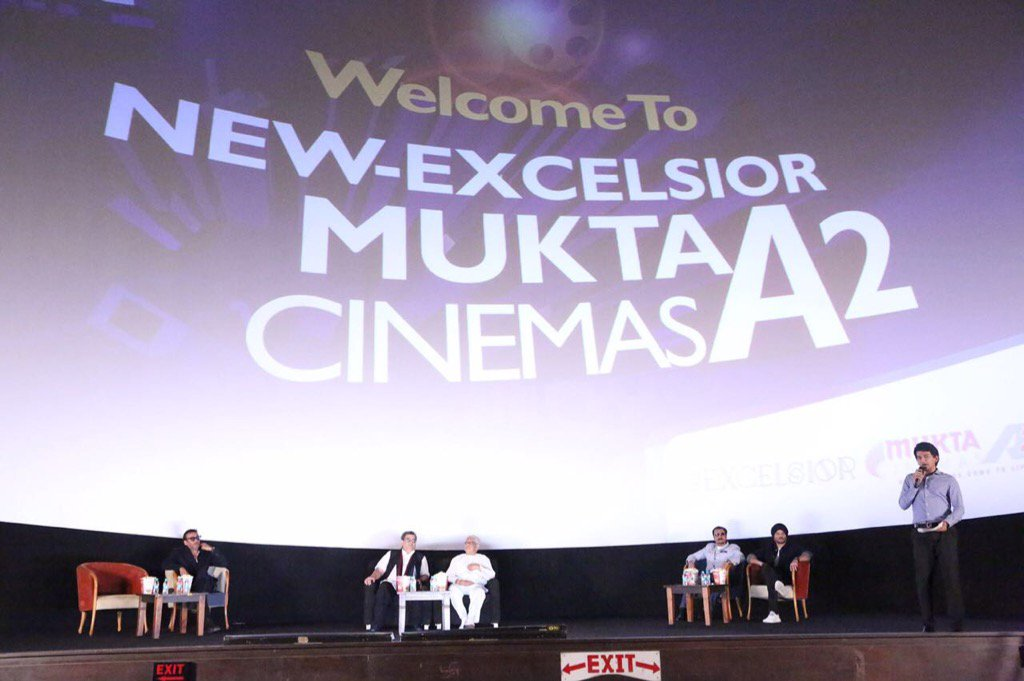 Largest screen in single theatre #new excelsior cinema @MuktaA2Cinemas opened by stars of RAM LAKHAN after 30 years <br>http://pic.twitter.com/DXkWIAz77F