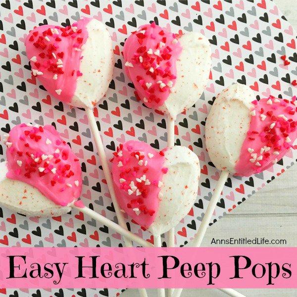 Easy Heart Peeps Pops Recipe