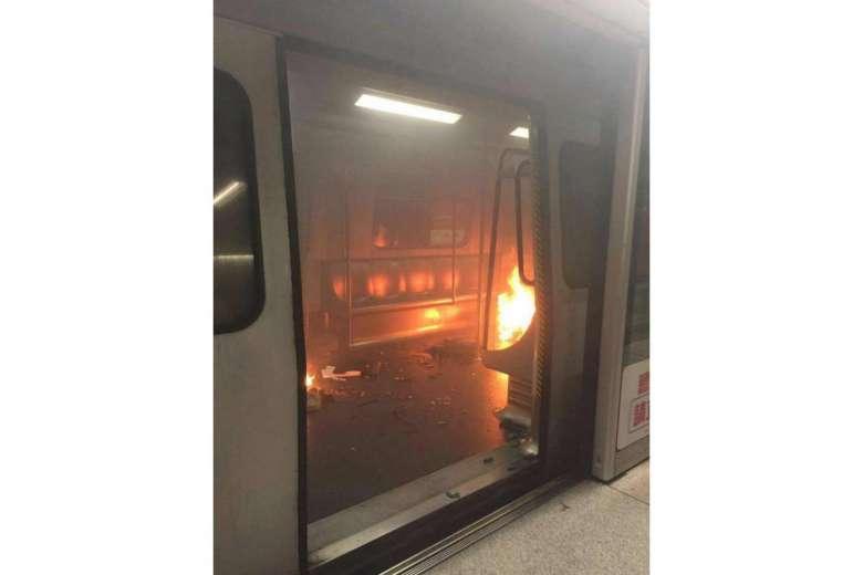 15 injured in Hong Kong train fire at Tsim Sha Tsui station