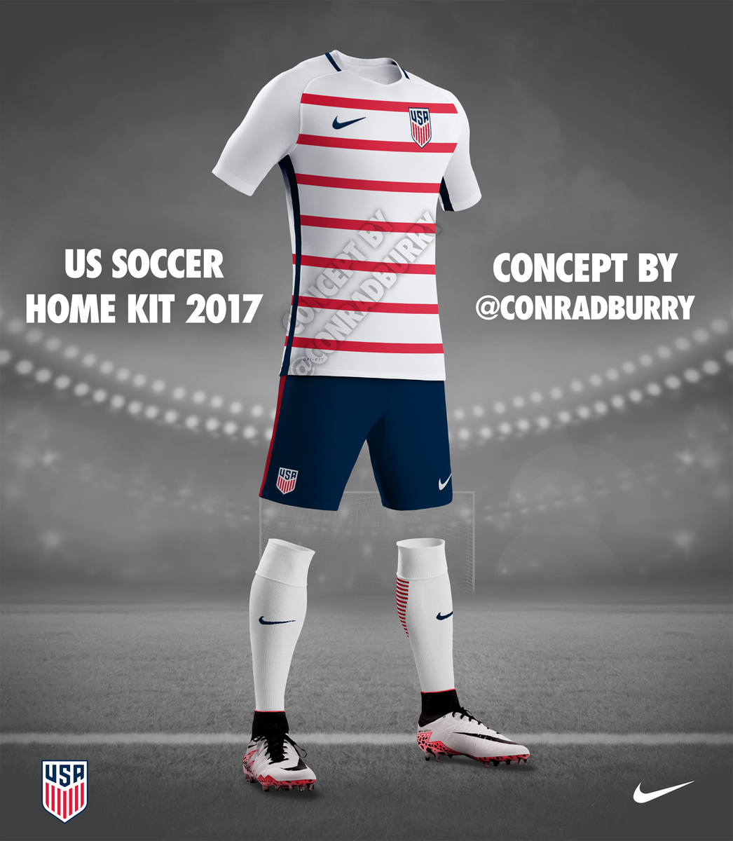 d797daa345a The unexpected popularity of my USA 3rd kit concept inspired me to tackle  home   away concepts using the current Nike template.  Improvement pic.twitter.com  ...