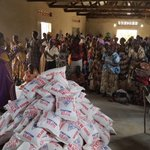 Helping to feed Ugandans affected by drought.
