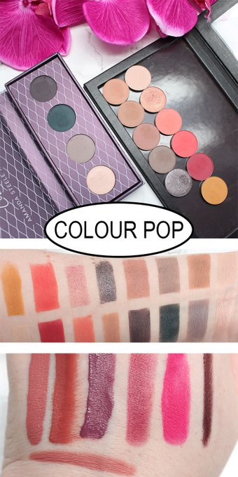 Colour Pop Pressed Powder Eyeshadows, Super Shock Eyeshadows Review & Swatches