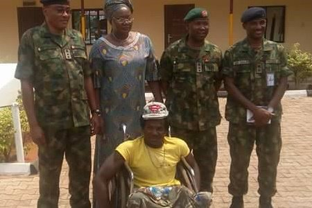 Nigeria army has compensated the assaulted physically challenged, Chijioke Raphael Uraku; battered him for allegedly wearing a camouflage shirt