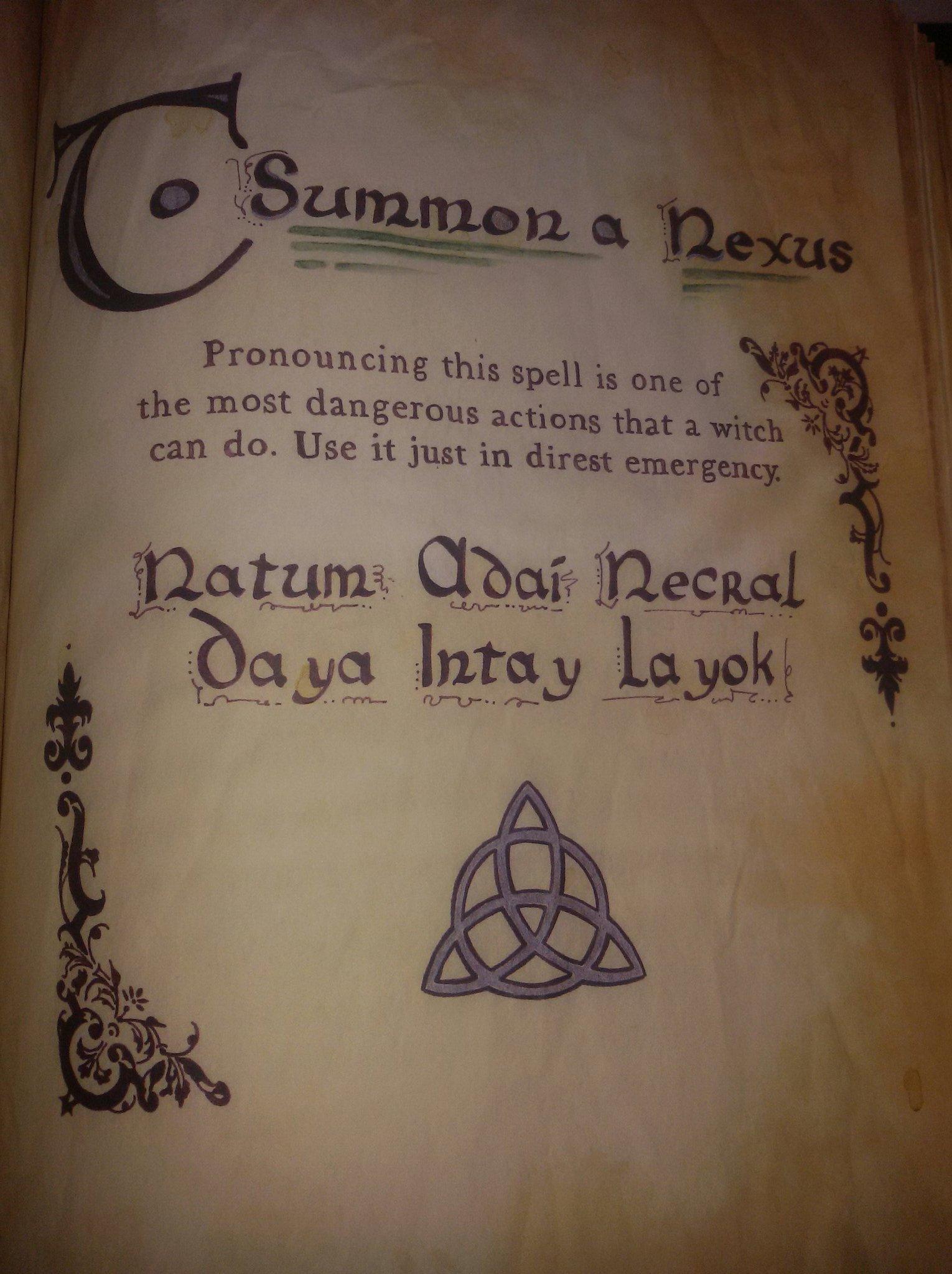 Charmed Siempre Ogcharmed On Twitter Tosummonthenexus Tosummontheshadow Woogyman Charmed Bos Spells S5e11 99th Natum Adai Necral Daya Intay Layok Https T Co K0otoentxk