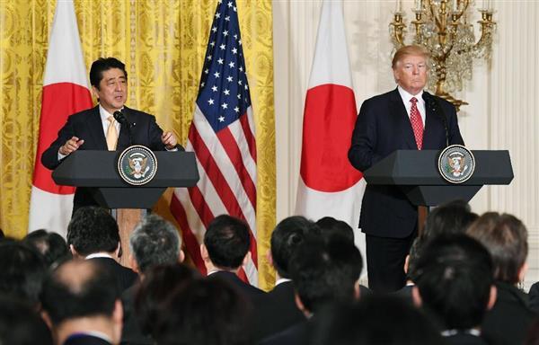 安倍首相「米国が偉大な国となることは日本にとって大きな利益」  sankei.com/politic…