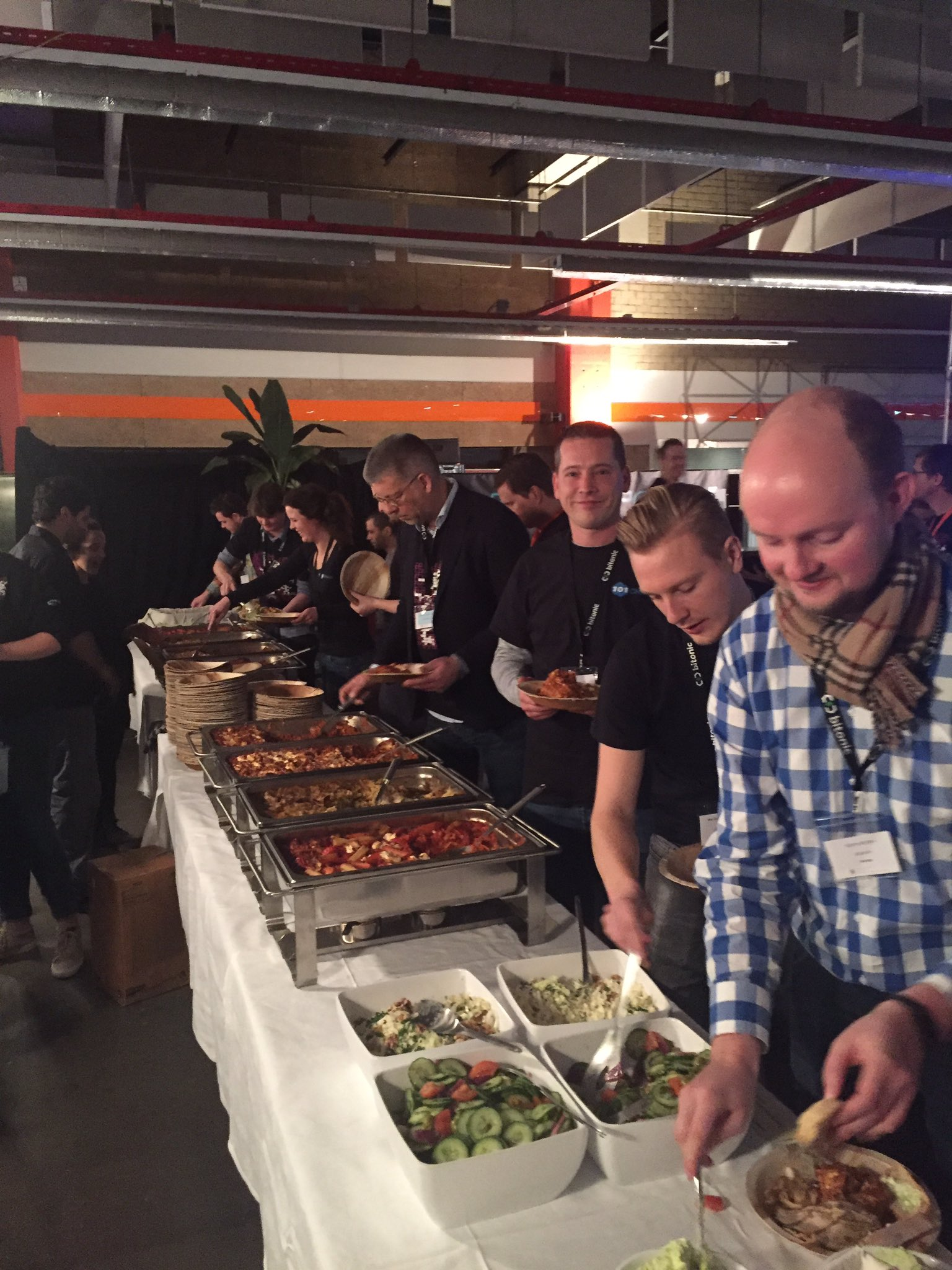 Dinner is served #dbh17 https://t.co/t2kWHaDivS