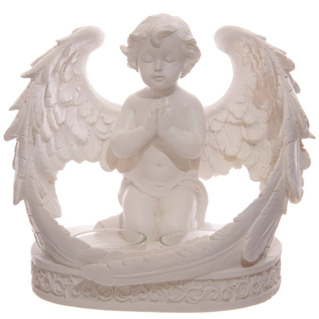Cherub Figurine with Double Votive Candle. Visit &gt;&gt;  http:// buff.ly/2hzedkb  &nbsp;    #Gifts #87RT <br>http://pic.twitter.com/MeU2DsBpif