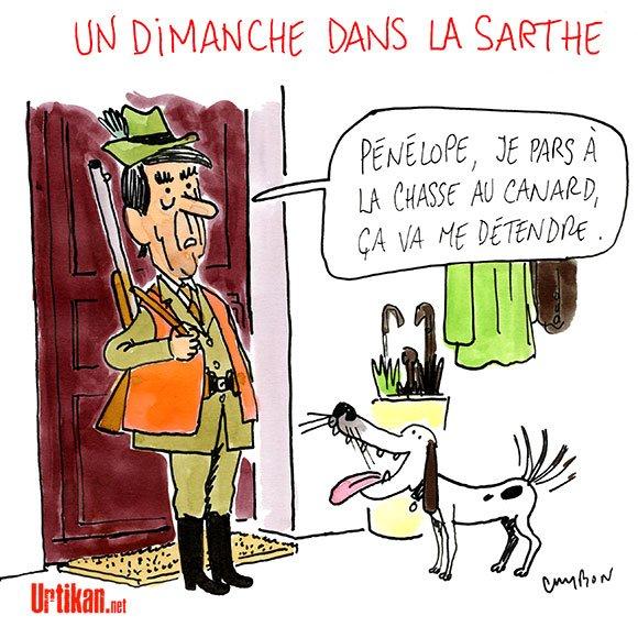 François Fillon profite de son week-end - #DessinDuJour de @m_cambon #Fillion #PenelopeGate #FillionGate #LR #chasse  http://www. urtikan.net/dessin-du-jour /francois-fillon-profite-de-son-week-end/ &nbsp; … <br>http://pic.twitter.com/opETwxrIyO
