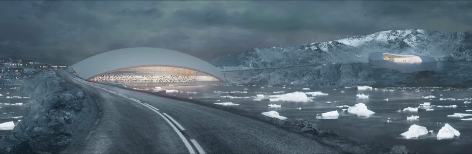 Groenland sur for Architecture qui se fond dans le paysage