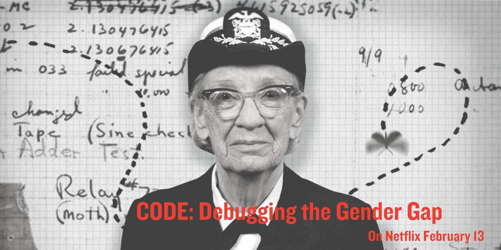 Tell your friends! Code: Debugging the Gender Gap is coming to @Netflix on February 13. https://t.co/xqU0RT7HX5 https://t.co/XbtlsFvKSg