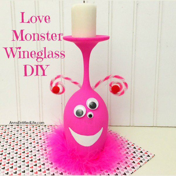 Love Monster Wineglass DIY