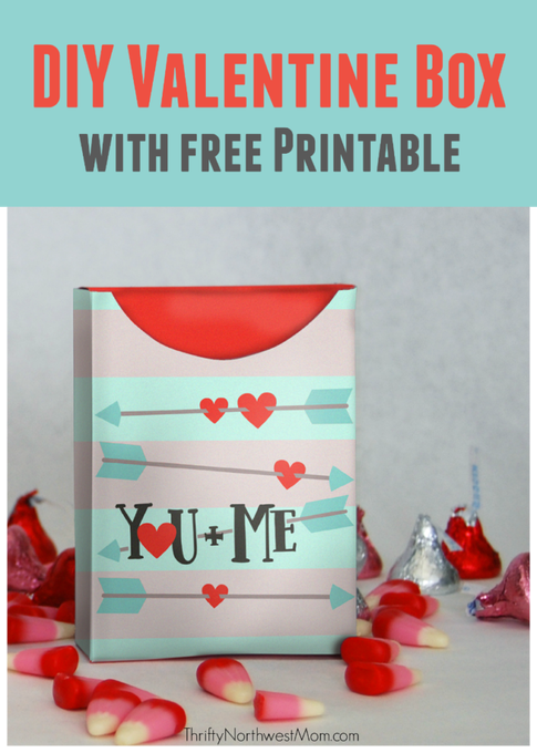 DIY Valentine Box with Free Printable – Fill with Goodies for Valentine's Day!