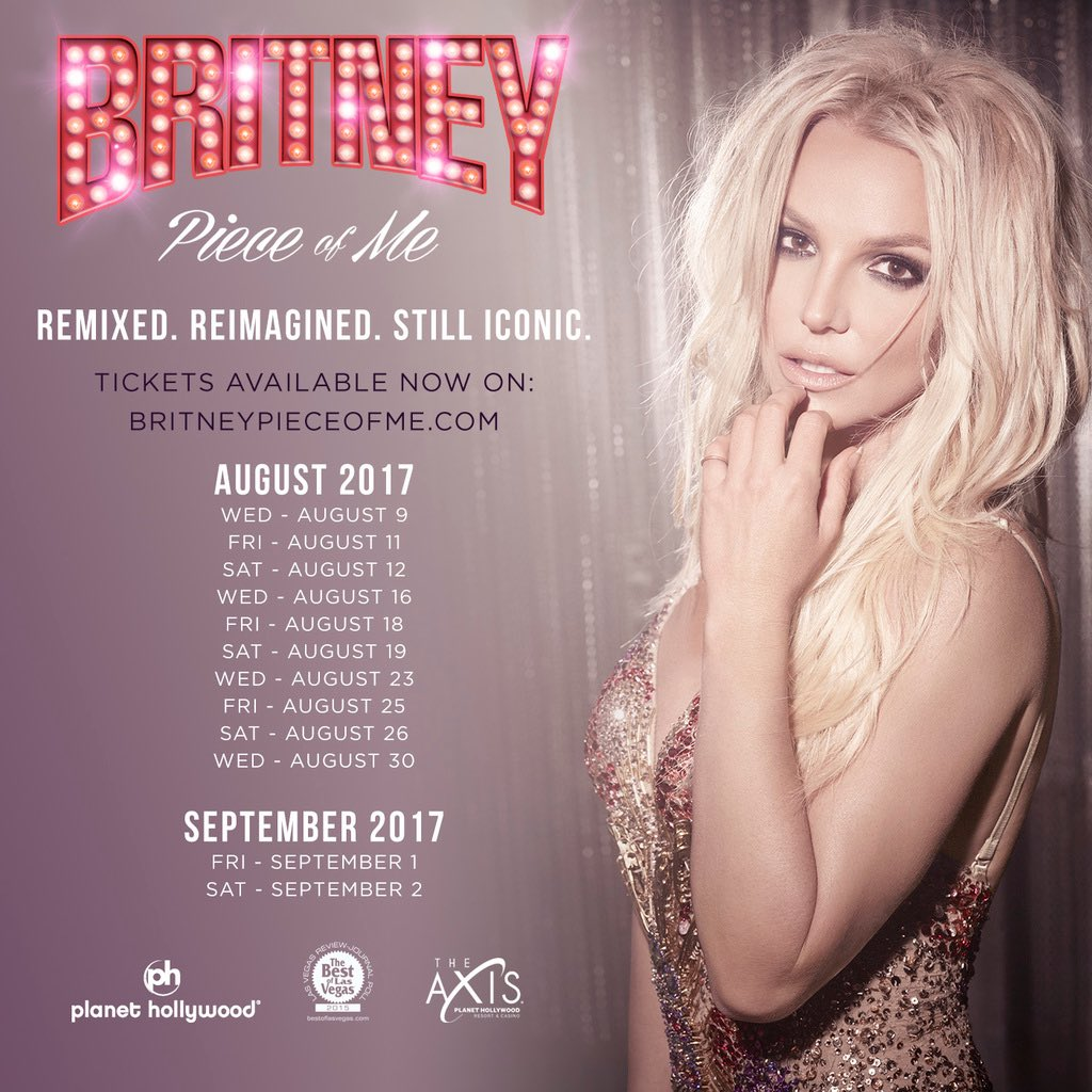 Tickets for the new #PieceOfMe shows are on sale now! ✨ Get yours toda...