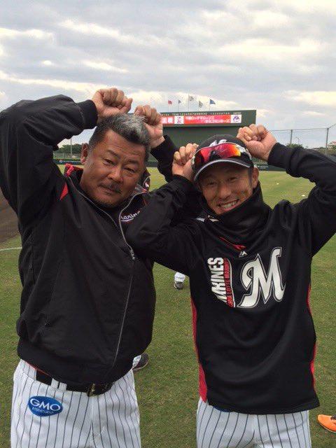 本日は台湾プロ野球チーム、ラミゴとの練習試合。練習前になぜか熊のポーズをとる岡田選手と打撃投手でプー…