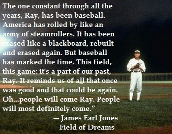 Image result for james earl jones on baseball field of dreams