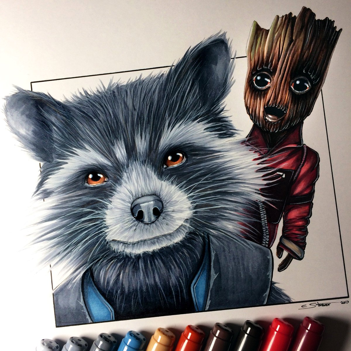 Christopher Straver On Twitter Here S My Drawing Of Rocket Raccoon