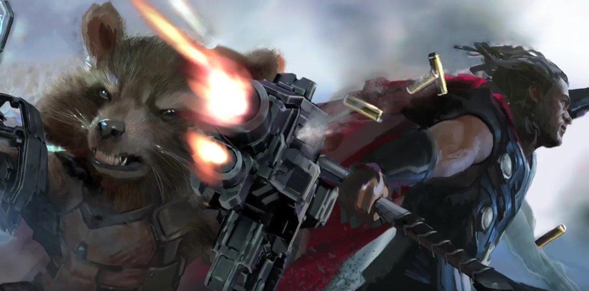 Infinity War - Concept Art - Thor & Rocket