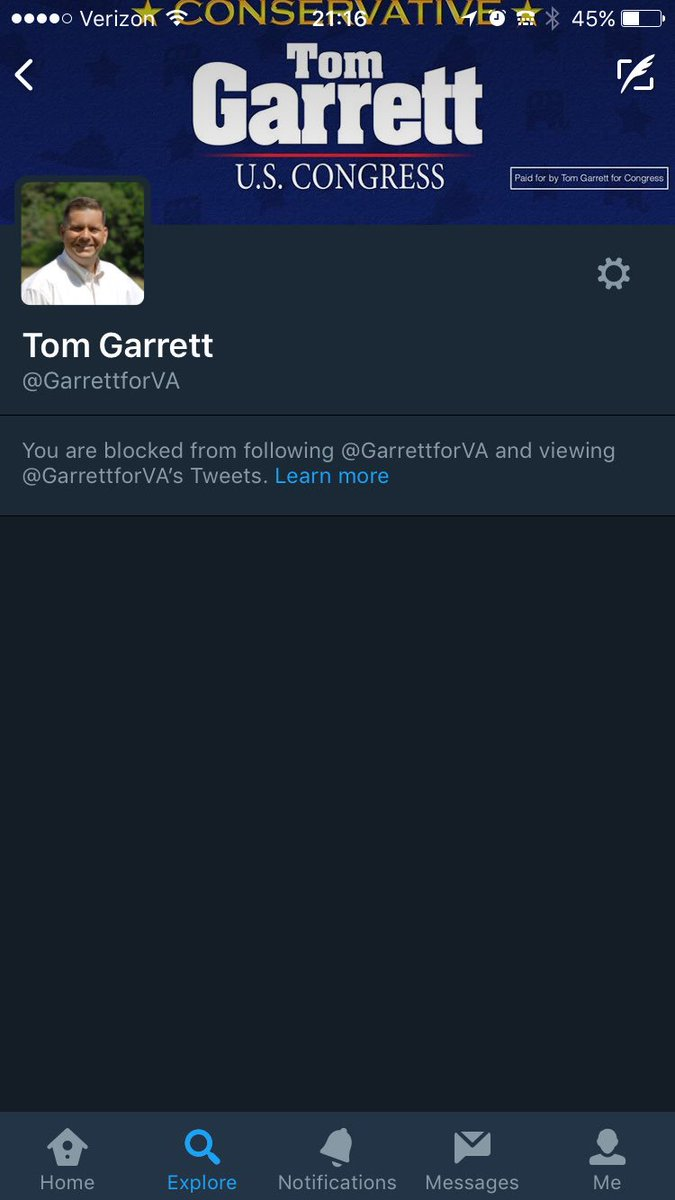 Blocked by my rep.  At least he read what I said, I guess.   All I did was ask a question. https://t.co/v9uW2cn1pA