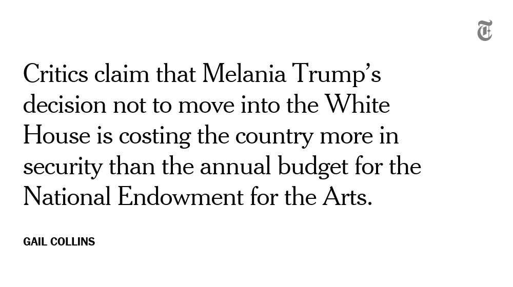 The Trumps are getting expensive. https://t.co/QuHLB58APc by @GailCollins
