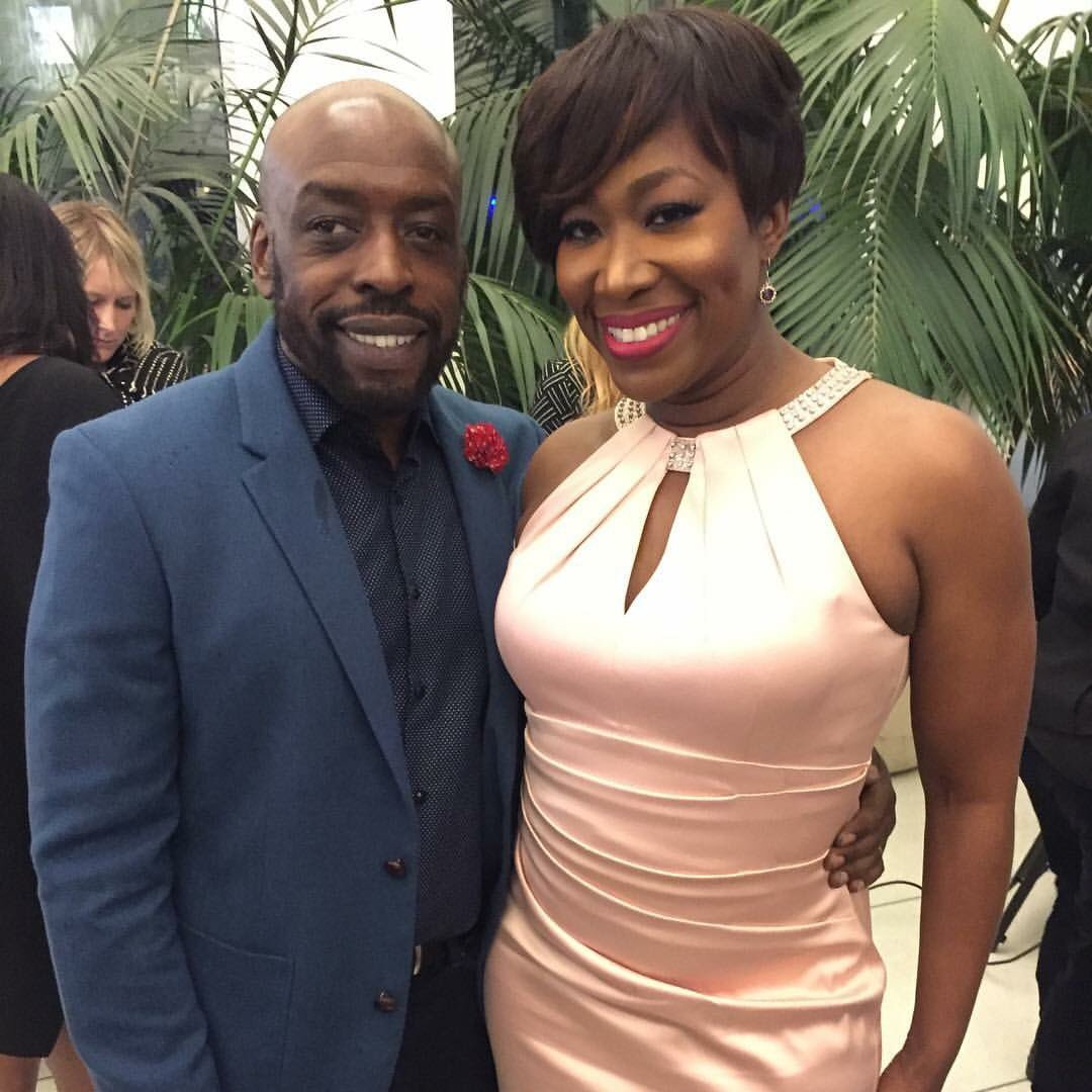 Joy-Ann Reid with her husband Jason Reid
