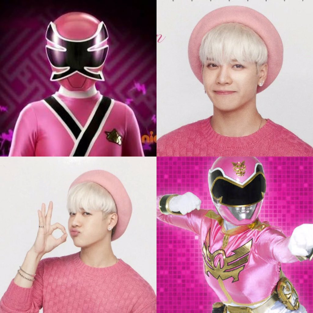 — jackson wang as pink ranger;