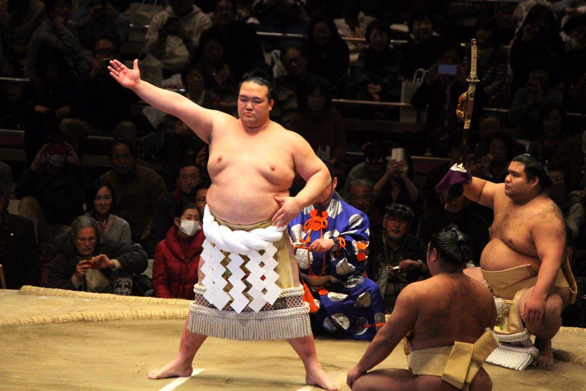 <NHK福祉大相撲>新横綱 稀勢の里土俵入り。#sumo