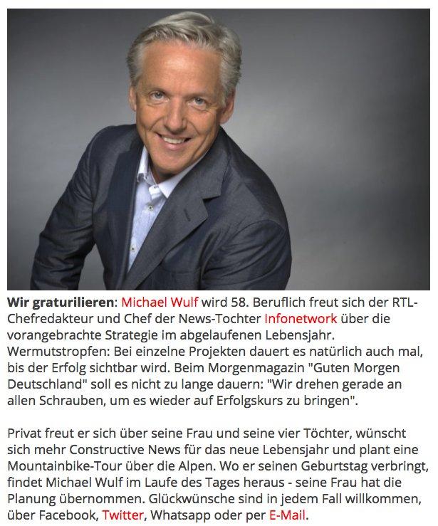 Michael Wulf Chefredakteur Wir Graturilieren Michael Wulf