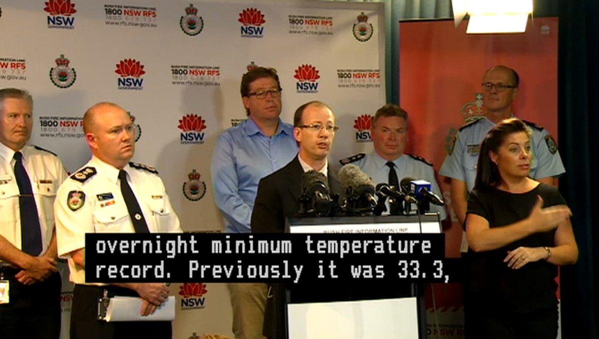 Extreme and Catastrophic #heatwave #bushfire #heathealth conditions warned at @NSWRFS 2.30pm media conf #Auspol https://t.co/b4q5Stu1mq https://t.co/K84kjIqvAj