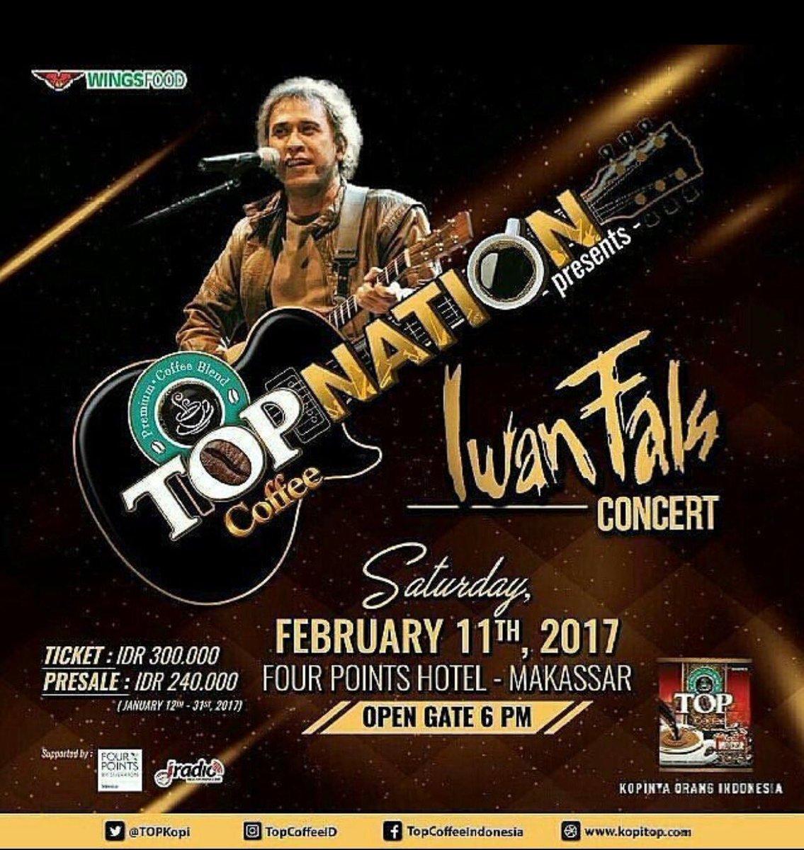Iwan Fals Konser di Four Point Sheraton Makassar Malam Ini