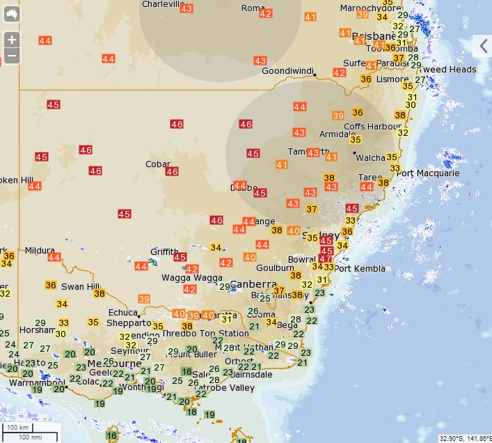 Ivanhoe reached 47.6 C this afternoon - the hottest in the state so far. Many locations have set February temperature records. #heatwave https://t.co/Nr5vFKSYyj