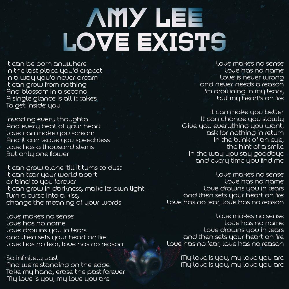 Amy lee love exists lyrics