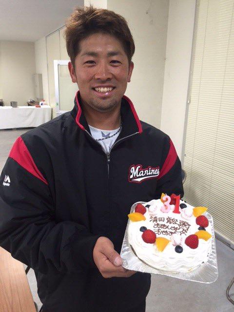31歳の誕生日を迎えた清田選手。「今年は笑ってシーズンを終えられるように頑張ります!」と清田選手。(…