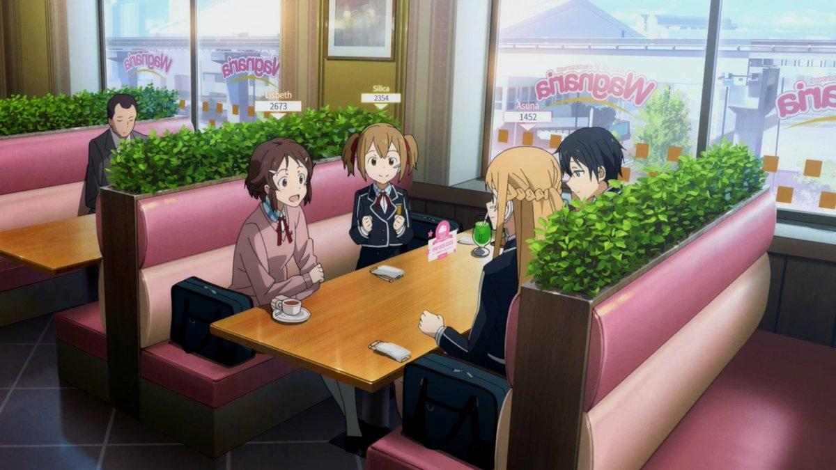 SAOの映画冒頭見たけどあれ???? ここのレストランの名前・・・!!