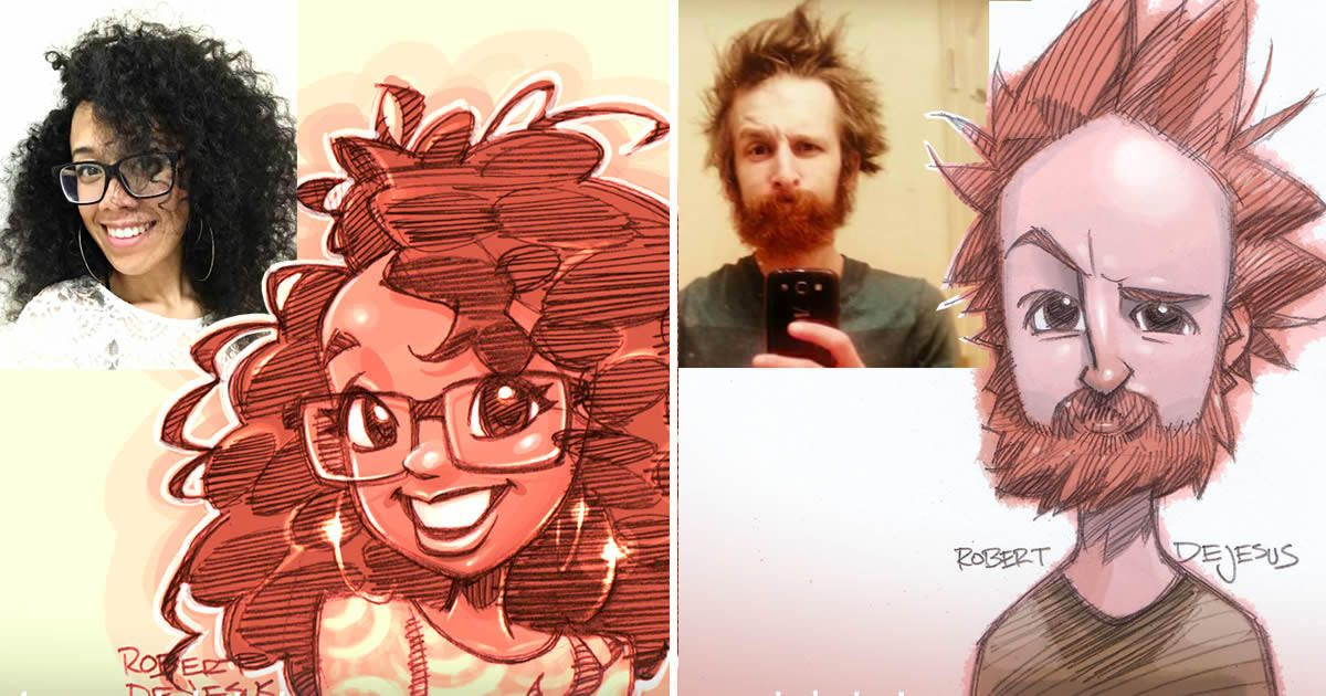 9gag On Twitter Artist Turns Strangers Into Adorable Cartoon Characters Robert Dejesus Https T Co Fcizhyjjlg