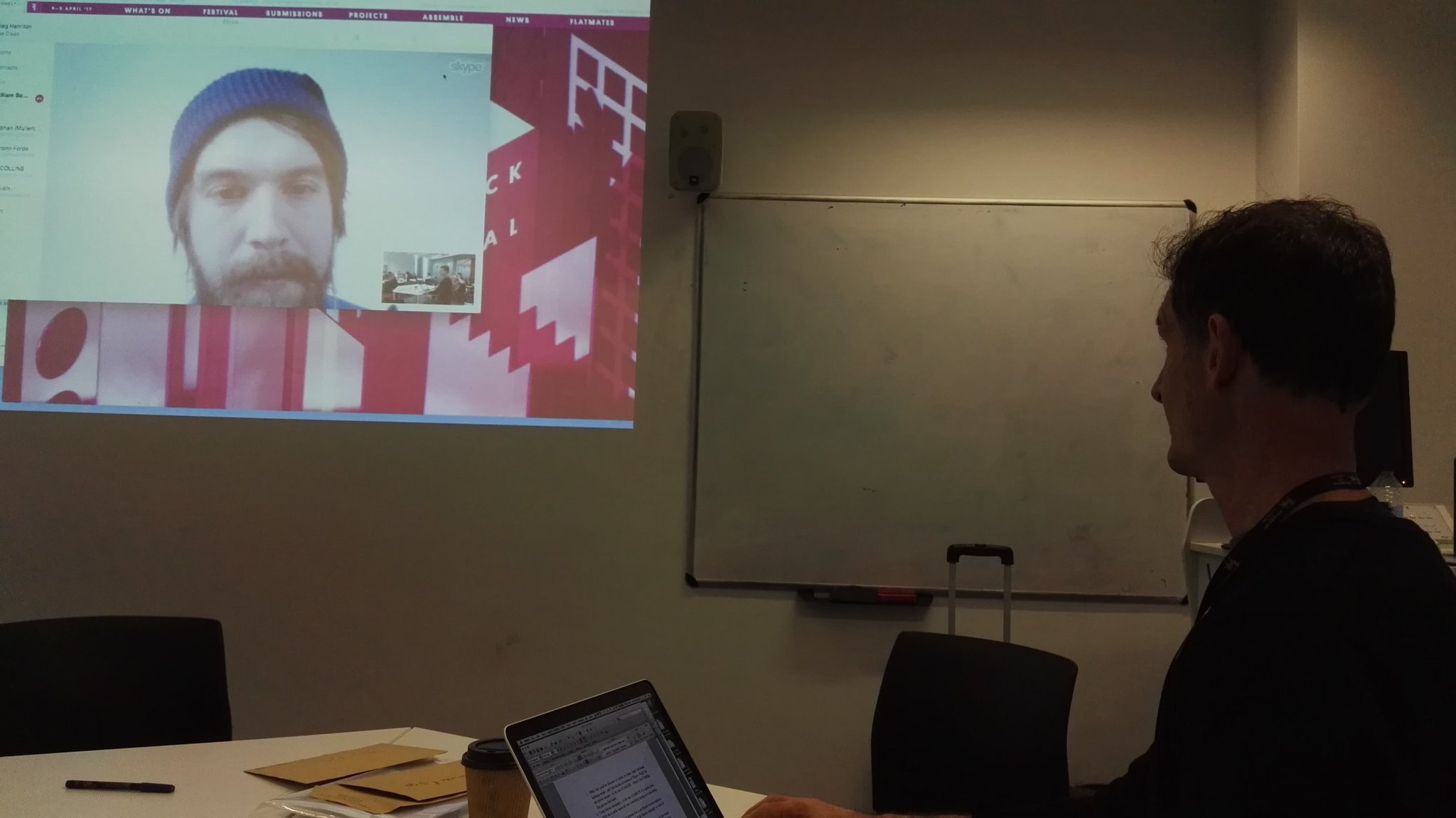 Day 2 of the music data hack at BCU with a live link to Sweeden #chimemdh https://t.co/5I2XSmsuid