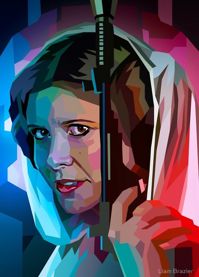 Incredible #StarWars #ANewHope #PrincessLeia #CarrieFisher artwork by @liambrazier #RogueOne #Hope<br>http://pic.twitter.com/uCbAkjHnEl