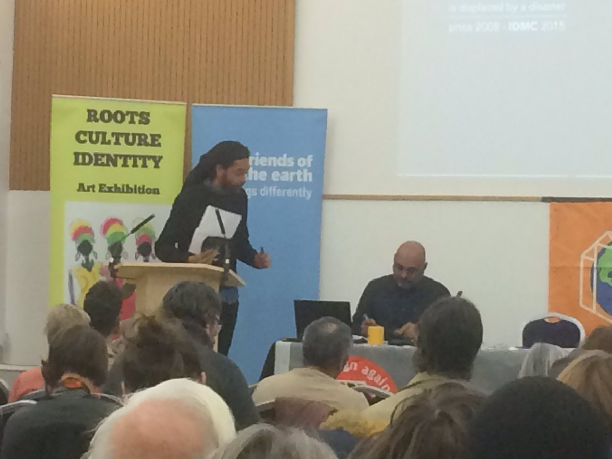 Zak from SUTR speaks to packed #ClimateRefugees conference: we hope you&#39;ll join us for the #MarchAgainstRacism on 18 March<br>http://pic.twitter.com/3jZHjQsDLB