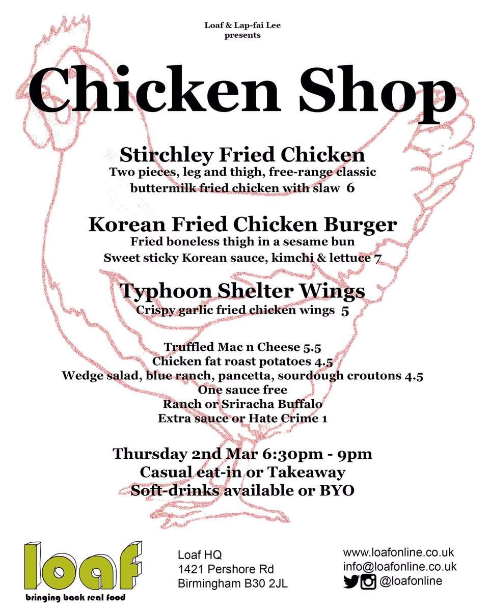 next pop up... CHICKEN SHOP reloaded