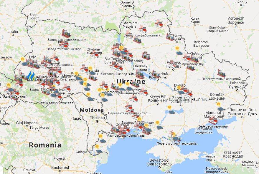 За 2 роки в Україні було відкрито півсотні нових заводів (карта)