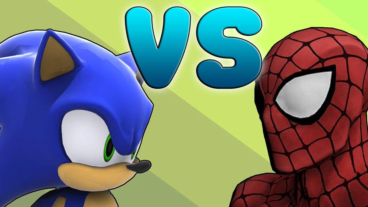3lamestudio on twitter sonic vs spiderman https t co ao8bp6s7eh