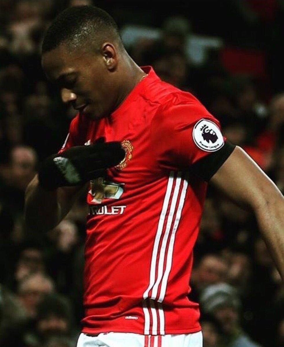 """Anthony Martial on Twitter """"Thanks for your amazing support today"""