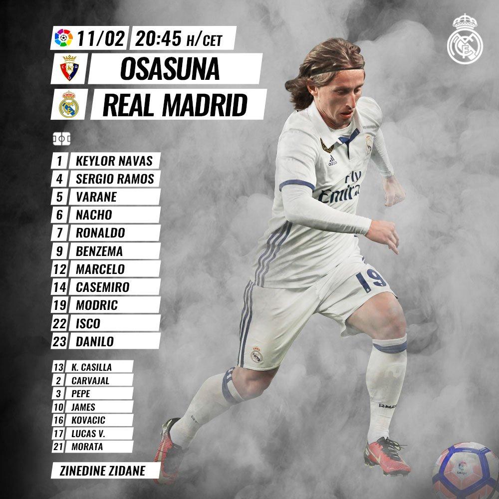 Osasuna - Real Madrid C4Z6iJmXUAE_BPm