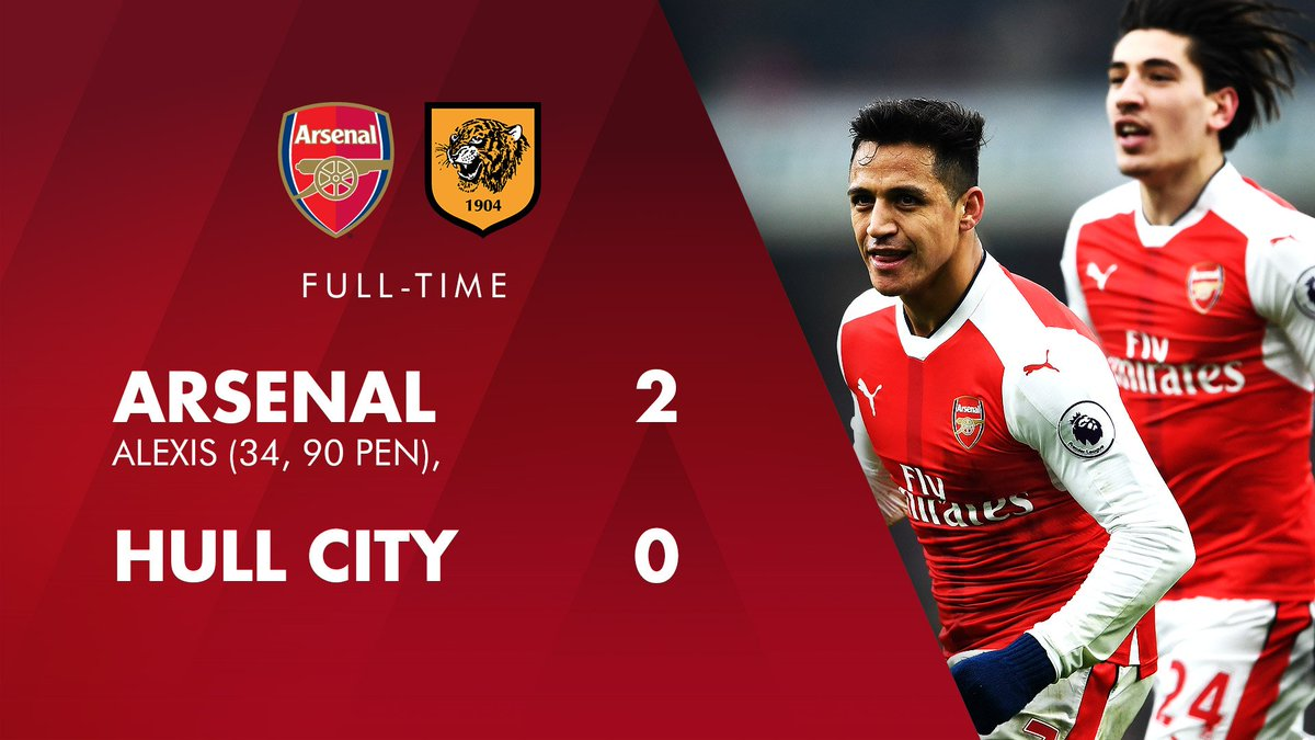 1️⃣️ brace for @Alexis_Sanchez 2️⃣️ goals for us 3️⃣️ deserved points #AFCvHCFC